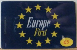 PR51  -  PREPAGATA - EUROPE FIRST  5 STERLINE - SCAD 22 MARZO 1999  - N° 405950333 - Royaume-Uni