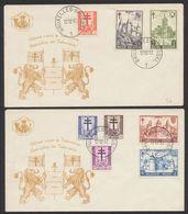 """FDC (1951) - Antituberculeux çàd N°868/75 Sur 2 Enveloppes Illustrées """"Défense Contre La Tuberculose"""". Superbe - FDC"""