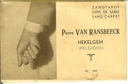 "Carnet De HEKELGEM "" Pierre Van Ransbeeck "" 8 Cartes Zandtapijt / Tapis De Sable Sans Carpet . - Affligem"