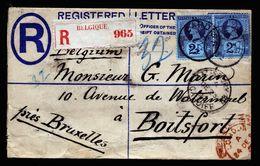 A6734) UK R-Brief V. Cardiff 23.12 92 N. Boitsfort / Belgien M. MeF - Storia Postale