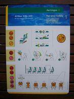 Avion / Airplane / AER LINGUS / Airbus A330-300 / Safety Card / Consignes De Sécurité - Safety Cards