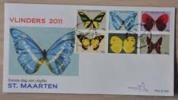 SINT MAARTEN ++ NEW NEW ++ 2011 FDC E004 ++SPECIAL OFFER ++ BUTTERFLIES PAPILLON SCHMETTERLING VLINDERS BLANCO BLANK - Curaçao, Antille Olandesi, Aruba