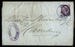 A6735) UK Streifband Wrapper V. London 22.02.93 N. Hamburg M. Perfin HUTH - Storia Postale