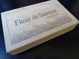 Boîte En Bois De Cigares Fleur De Savane, Vide - Boites à Tabac Vides
