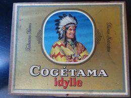 Boîte En Bois De Cigares Cogétama Idylle, Vide - Boites à Tabac Vides