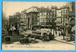 75 -  Paris - Paris La Porte Et Le Boulevard Saint Martin (N0985) - Markten, Pleinen