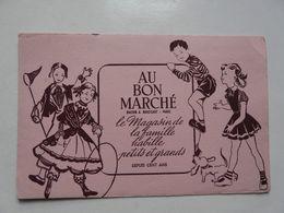 VIEUX PAPIERS - BUVARD : AU BON MARCHE - Kinder