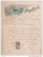 05 VEYNES Près GRENOBLE  FACTURE  Société Des CIMENTS Du DAUPHINE DUMOLARD & Cie 1899 -- R20 Hautes Alpes - 1800 – 1899
