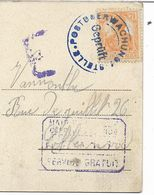TRES TRES RARE- Cachet POSTÜBERWACHUNG- STELLE Sur Stempel + E + SERVICE GRATUIT- CP RUINE HOHENTWIEL - Occupation 1914-18