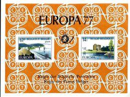 18177549 BE 19770507; Europa, Gileppe, Yser; Tiré à Part 105x140, Fllet Luxe, Cob LX66 N°1853-54 - Luxevelletjes