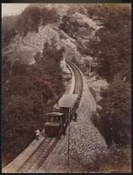 SUISSE  PHOTO +- 1890 A 1900  - CHEMIN DE FER DU RIGI    27 X 21 CM  VOIR 4 SCANS - LU Lucerne