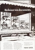 """PUB """"  """" RANK XEROX  """" Et Les """" DALTONS """"""""   1977 ( 20 ) - Livres, BD, Revues"""