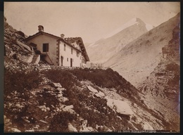 SUISSE  PHOTO +- 1890 A 1900  -  GEMMI SCHWARENBACH ET L'ALTES     27 X 21 CM  VOIR 2 SCANS - VS Valais