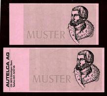 2 ATM Test Notes AUTELCA, Pink Paper, RRRRR, UNC-, Sehr Alt - Svizzera