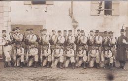 Carte Photo Militaria  Lons Le Saunier Groupe De Militaire Du 44 E Régiment D'Infanterie De Lons Le Saunier 1912 Réf 893 - Regimente