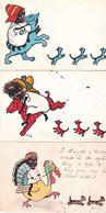 CPA CHAT, 3 Cartes : M.M.VIENNE N°244 , écrites. - Chats