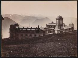 SUISSE  PHOTO +- 1890 A 1900  -  RIGI KULM ET LES MONTAGNES D'OBERLAND     27 X 20 CM  VOIR 3 SCANS - LU Lucerne