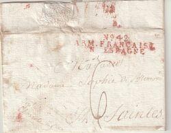 "FRANCE : MP . "" N° 42 ARMEE D'ESPAGNE FRANCAISE EN ESPAGNE "" EN ROUGE . DATEE DE BELALCAZAR . - Legerstempels (voor 1900)"