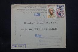 POLYNÉSIE - Enveloppe Commerciale Par 1ère Liaison T.A.I. Polynésie / France Via Los Angeles En 1960  - L 64870 - Briefe U. Dokumente