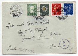 Suisse -1943--Lettre De BUSSIGNY SUR MORGES Pour GRENADE SUR ADOUR-40 (France)-composition De Timbres,cachets - Switzerland