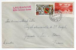 Suisse -1941--Lettre De BUSSIGNY Pour GRENADE SUR ADOUR-40 (France)-timbres,cachet Bureau De Poste Automobile Suisse - Covers & Documents