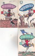 CPA CHAT, 3 Cartes : M.M.VIENNE N°513. (signées : HAW.) Cartes Rares... - Chats