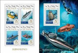 Salomon 2013, Submarines, 4val In BF +BF - Submarines