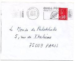 ILLE & VILAINE - Dépt N° 35 = RENNES ARMEES 1973 =  FLAMME à DROITE =  SECAP Illustrée ' CODE POSTAL / Mot Passe' - Postleitzahl