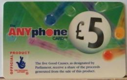 PR61 -  PREPAGATA - ANYPHONE CARD 5 STERLINE - CARDCALL UK  - SCAD. -- N° 11 NL 067031 - Royaume-Uni