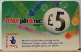 PR61 -  PREPAGATA - ANYPHONE CARD 5 STERLINE - CARDCALL UK  - SCAD. -- N° 11 NL 067032 - Royaume-Uni