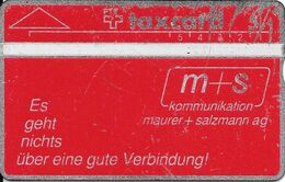Switzerland: PTT K-90/40 011F Maurer + Salzmann AG - Svizzera