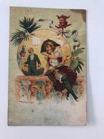 Carte Postale Ancienne  Signée R. KRATKI Femme Légère - Andere Zeichner