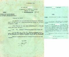 """Document -     Lettre-  """" Produit De La Collecte, En Faveur De La Ville De ARGENTAN """" - (1944) - Documents"""