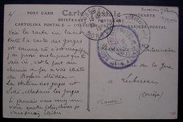 Algérie 1915 1er Régiment De Zouaves 71e Compagnie, 2 Cachets Sur Carte Des Gorges De La Chiffa Pour Lubersac Corrèze - Marcofilia (sobres)