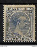 CUBA *129 Nuevo Con Charnela. Cat. 31 € - Cuba (1874-1898)