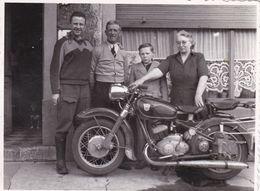 Vieille Moto Harley Davidson ? 1955   Photo 11  X 8.5 - Photos
