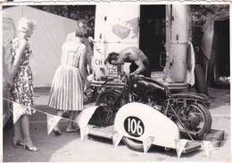 Spa Francorchamps Vieille Moto BMW 1959 Canathias Champion Du Monde Side Car Photo Carte - Photos