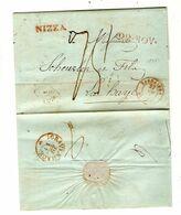 REF1461/ Précurseur LAC Daté De Nice 1845 Griffe Nizza 22 NOV Port 75 C.Sardaigne > Hollande La Haye C.d'arrivée - 1801-1848: Vorläufer XIX