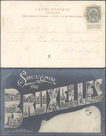 """Marcophilie - Armoiries N°81 Sur CP Vue (Bruxelles) + Obl Relais """"Grand-Bigard"""" > Courtrai. - Poststempel"""