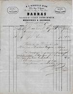 """1963 PARIS """"A L'AIGUILLE D'OR"""" - Mercerie & Soieries - BARRAS Pour REIMS - 1800 – 1899"""