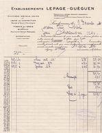 29-Lepage-Guéguen...Chiffons-Métaux-Crins...Landerneau.. ..(Finistère)...1931 - Francia