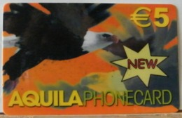 PR73 -  PREPAGATA - AQUILA PHONECARD € 5,00 - SCAD. 90 GG PRIMO UTILIZZO  - N° 1000600401326 - [2] Tarjetas Móviles, Prepagadas & Recargos