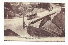 25612 - Hendaye Le Dernier Pont De France Tram - Hendaye