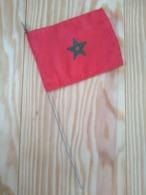 Maroc Petit Drapeau Nylon 9 Cm X 13 Cm Tige Métal - Obj. 'Remember Of'