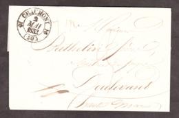 LSC - 2 Mai 1832 - T12 CHaumont Pour Doulevant (Hte Marne)- Port Dû 2 Décimes - Dateur A à L'arrivée - Poststempel (Briefe)