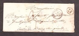 LSC - 8 Juin 1846 - Prignac Pour Bourg-sur-Gironde - Port Dû 2 Décimes + 1 Décime Rural - Marcophilie (Lettres)