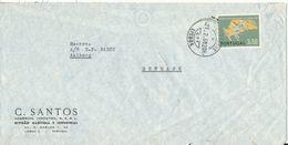 Portugal Air Mail Cover Sent To Denmark Lisboa 21-2-1968 Single Franked - Poste Aérienne
