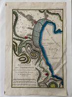 Koper Gravure Griekenland, Plan Du Passage Des THERMO - PYLES , 1784 - Carte Topografiche