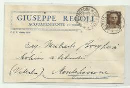 ACQUAPENDENTE - G. REGOLI VITERBO  1934   VIAGGIATA FP - Viterbo