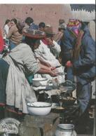 Perù - Chinchero - Comida Tipica En El Mercado - Stamps Papa Paolo II - H7014 - Peru